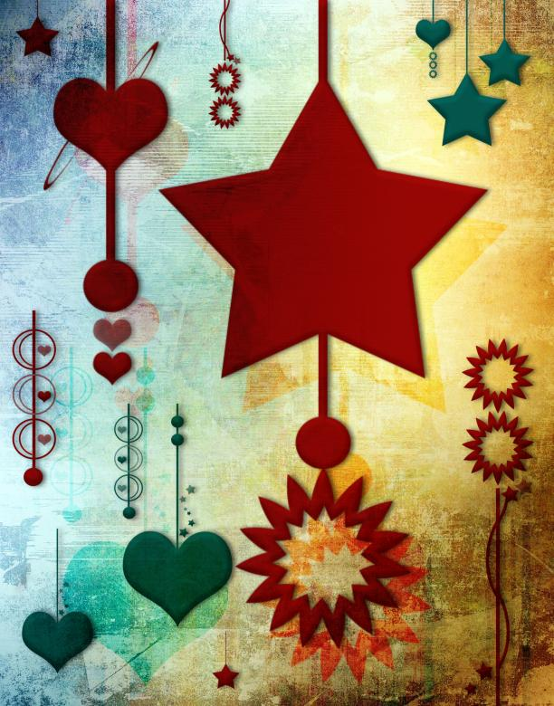 Free Stock Photo of Stars and Hearts Created by Rachael Towne