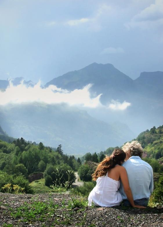 Free Stock Photo of Romantic couple enjoying the view Created by Merelize
