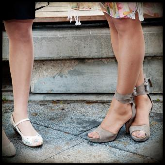 Women legs and heels shoes - Free Stock Photo