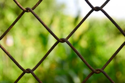 Rusty fence - Free Stock Photo