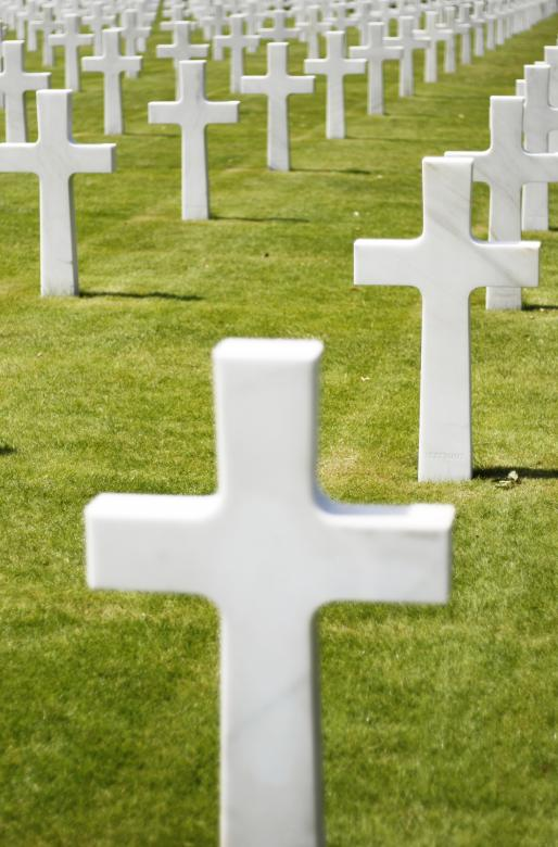Free Stock Photo of Military graveyard Created by Merelize