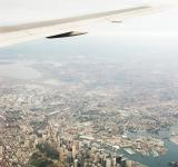 Free Photo - City birds eye view from plane