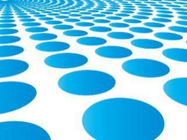 Free Stock Photo of Blue Perspective Dots Background Created by Riki Maltese