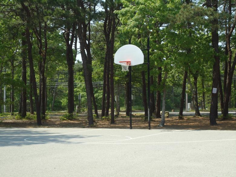 Free Stock Photo of Basketball Court Hoop Created by Katharine Sparrow