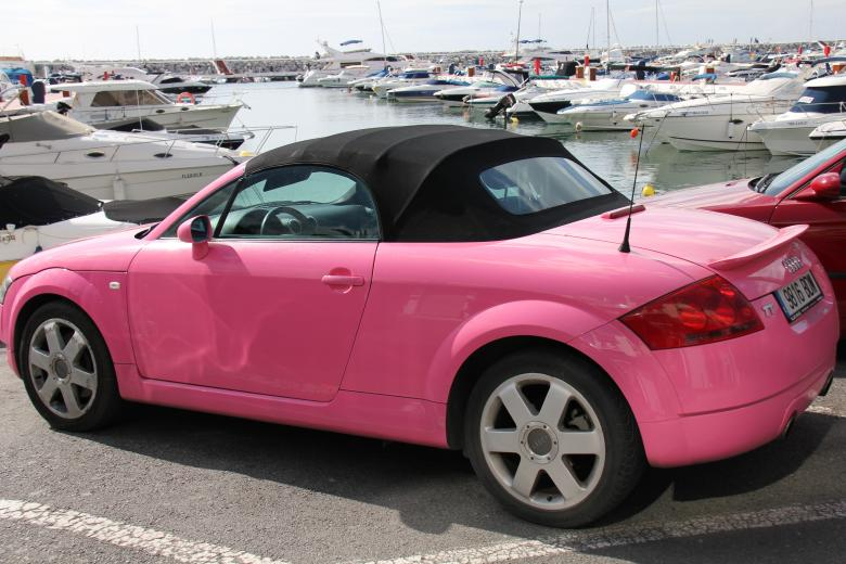 Free Stock Photo of Pink Audi Created by Ian Green