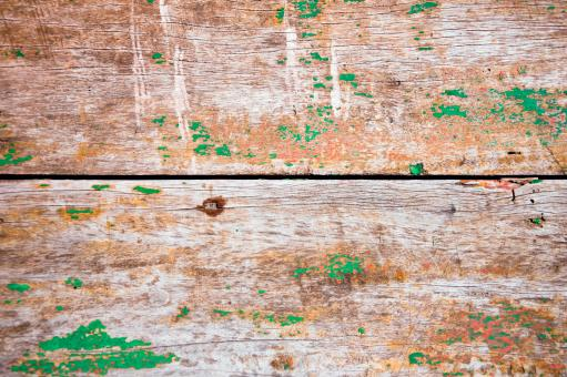 wooden planks with old green paint - Free Stock Photo