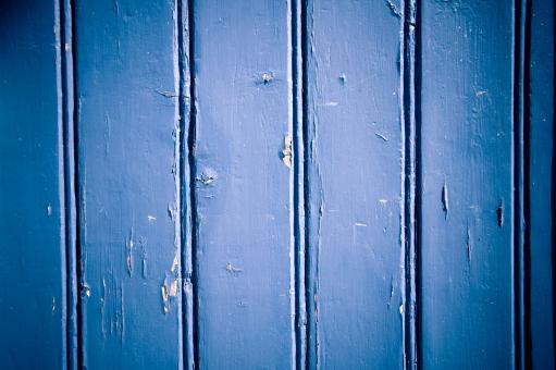 Blue painted wood texture - Free Stock Photo