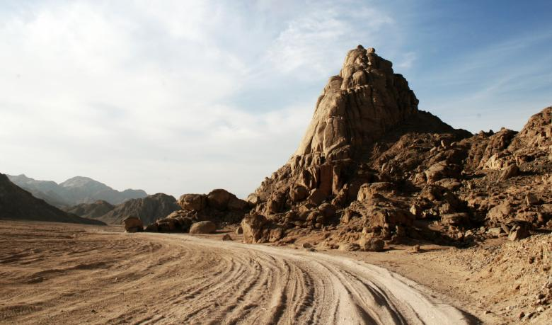Free Stock Photo of Road through the desert Created by Merelize