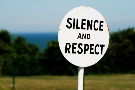 Sign silence and respect - Free Stock Photo