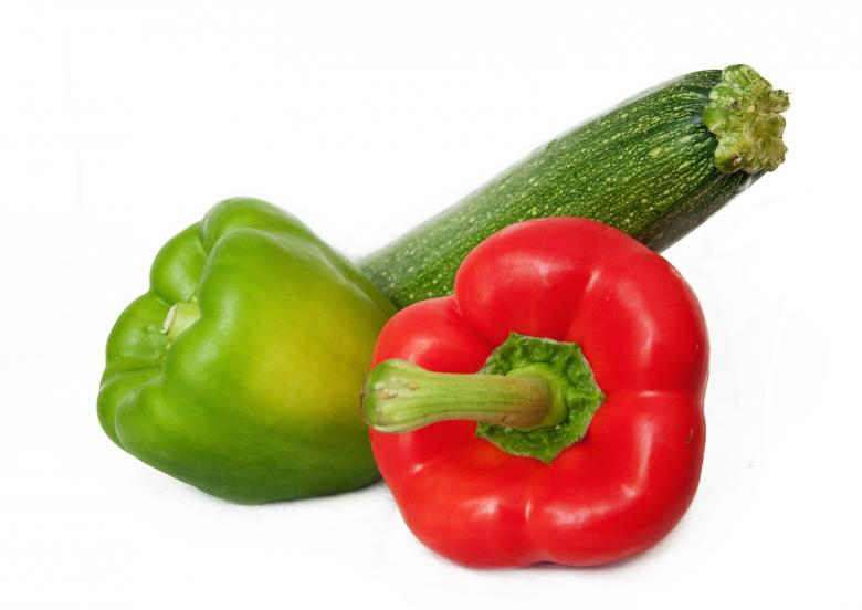 Free Stock Photo of Capsicum and zucchini Created by Merelize