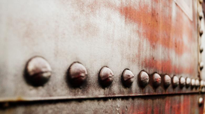 Free Stock Photo of Train Rivets (semisarah.com) Created by Sarah Hauck