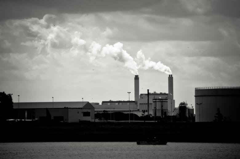 Free Stock Photo of factory pollution Created by Merelize
