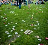 Free Photo - Scattered trash on grass