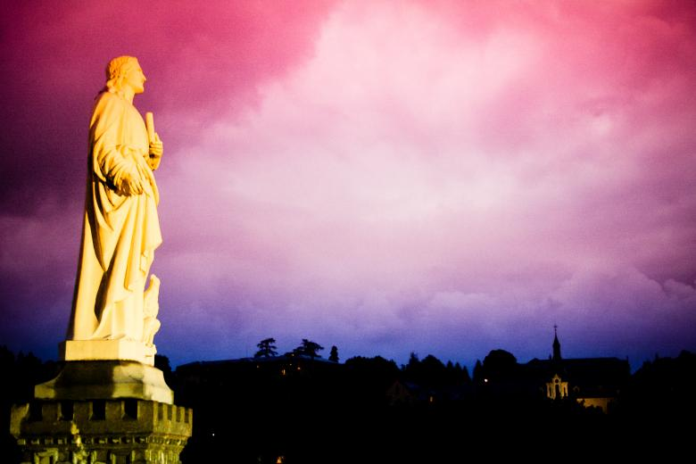 Free Stock Photo of Sunset statue Created by Merelize