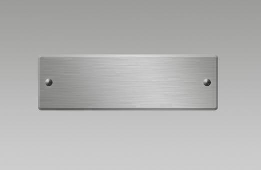 Metal nameplate - Free Stock Photo
