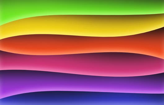 Rainbow waves wallpaper graphics - Free Stock Photo