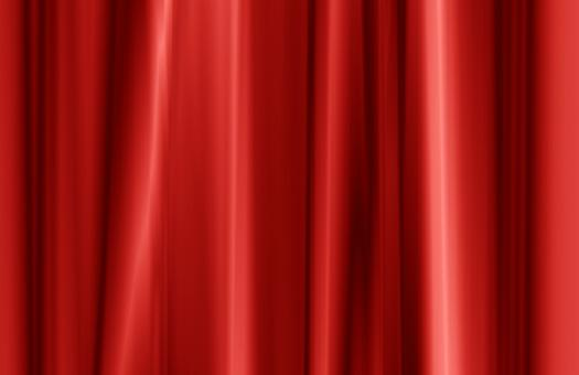 Red curtain fabric texture - Free Stock Photo