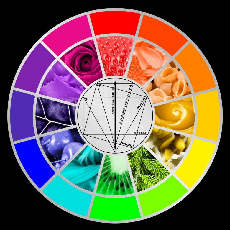 Free Stock Photo of Stylized Color Wheel Created by Nicolas Raymond