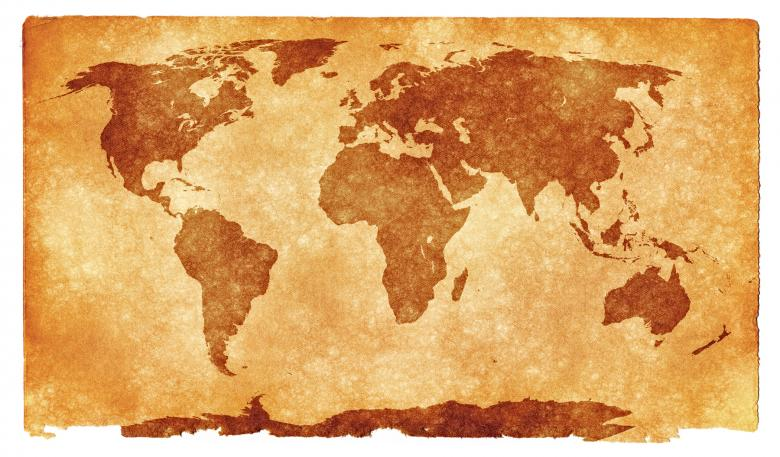 Free Stock Photo of World Grunge Map Created by Nicolas Raymond
