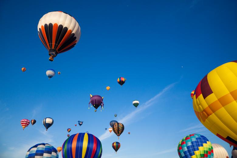 Free Stock Photo of Hot Air Balloons Created by Nicolas Raymond