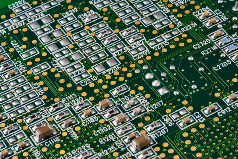 Free Stock Photo of Circuit Board Close-up Created by Nicolas Raymond