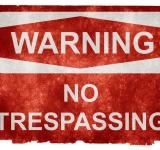 Free Photo - Grunge Warning Sign - No Trespassing