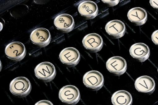 Antique Typewriter Close-up - Free Stock Photo