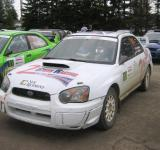 Free Photo - Subaru Rally car color white