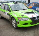 Free Photo - Green Mitsubishi rally car