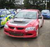 Free Photo - Red Mitsubishi rally racing car