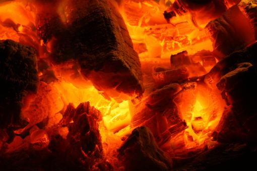 Glowing Fire Embers - Free Stock Photo