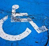 Free Photo - Cracked Handicap Sign
