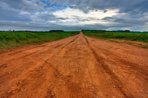 PEI Country Road - HDR - Free Stock Photo