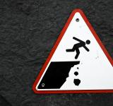 Free Photo - Cliff Drop Warning Sign