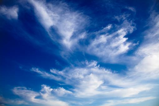 Cloudy Blue Sky - Free Stock Photo