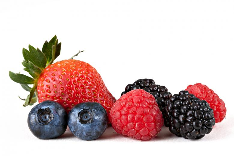 Free Stock Photo of Mix of strawberry, blueberries, raspberries, and blackberries Created by Nicolas Raymond