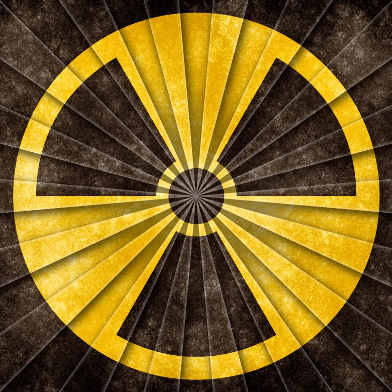 Free Stock Photo of Nuclear Grunge Symbol Created by Nicolas Raymond
