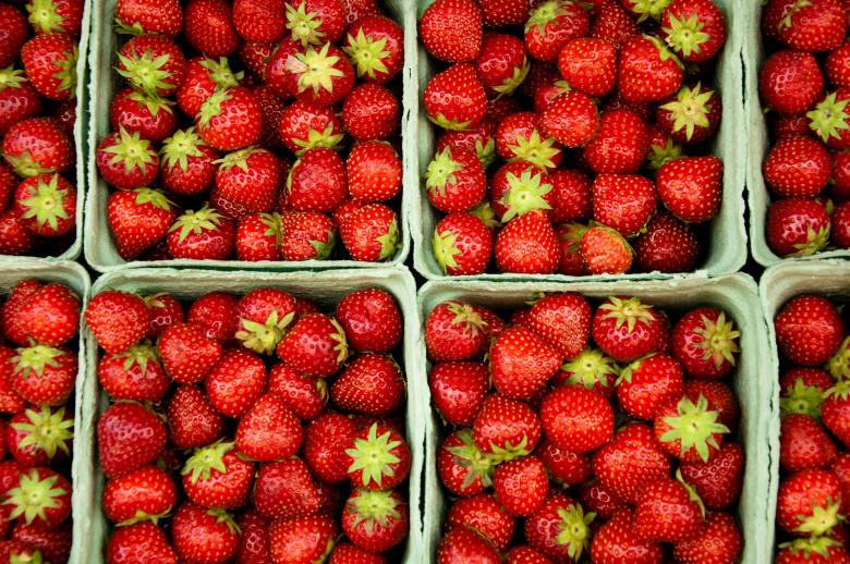 Free Stock Photo of Strawberries Created by Merelize
