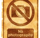 Free Photo - No Photography Grunge Sign