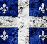 Free Photo - Quebec Grunge Flag