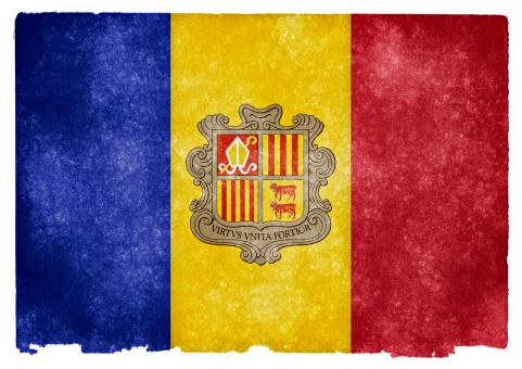 Andorra Grunge Flag - Free Stock Photo