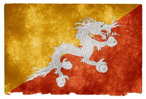 Bhutan Grunge Flag - Free Stock Photo