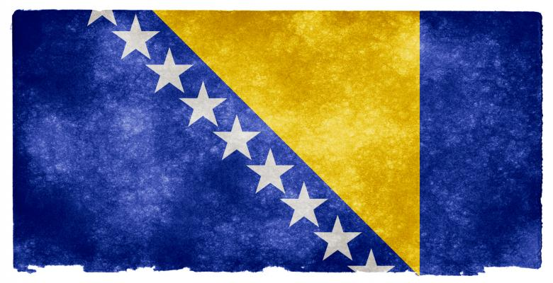 Bosnia and Herzegovina Grunge Flag Free Photo