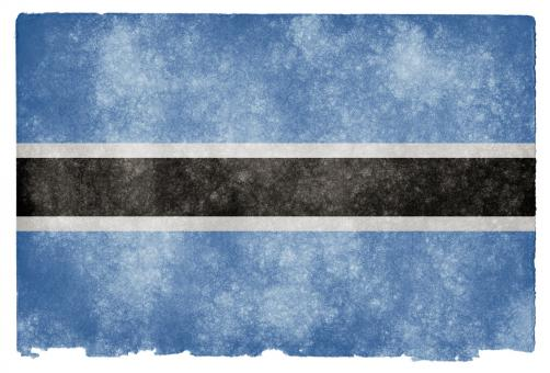 Botswana Grunge Flag - Free Stock Photo