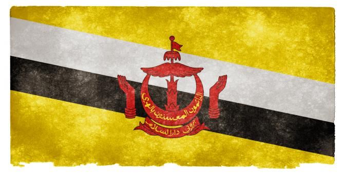 Brunei Grunge Flag - Free Stock Photo