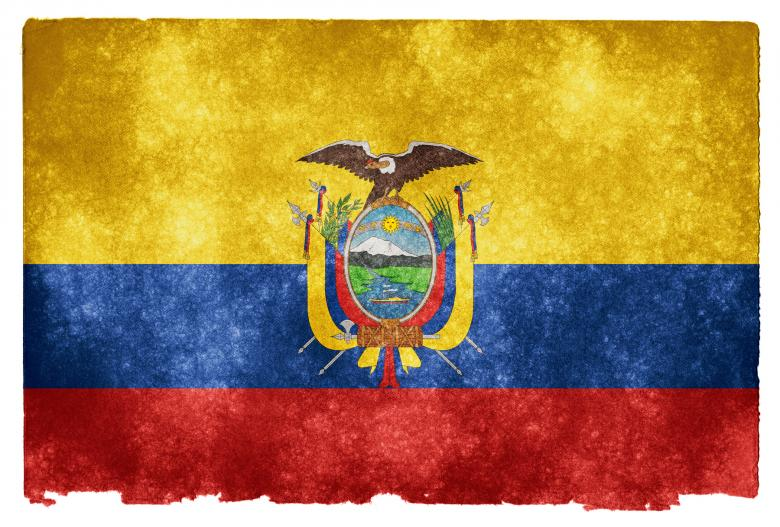 Free Stock Photo of Ecuador Grunge Flag Created by Nicolas Raymond