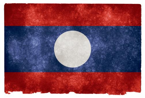 Laos Grunge Flag - Free Stock Photo