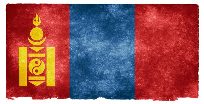 Mongolia Grunge Flag - Free Stock Photo