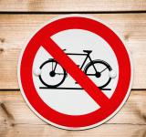 Free Photo - No bicycle sign
