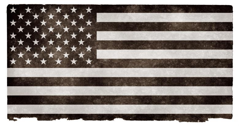 Free Stock Photo of USA Grunge Flag - Black and White Created by Nicolas Raymond